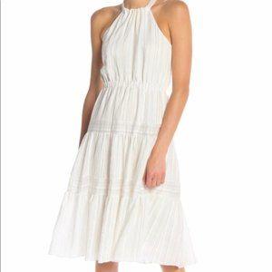Rebecca Taylor NWT Stripe Halter Open Back Dress
